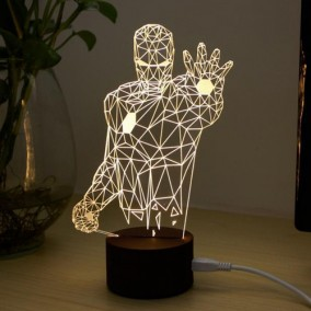 3D Iron Man LED Night Lamp