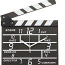 Movie Clapper Wall Clock
